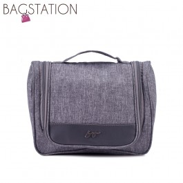 BAGSTATIONZ Lightweight Travel Toiletries Large Pouch-Grey