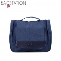 BAGSTATIONZ Lightweight Travel Toiletries Large Pouch-Navy Blue