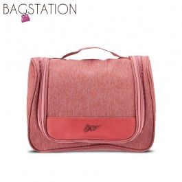 BAGSTATIONZ Lightweight Travel Toiletries Large Pouch-Peach