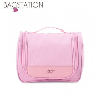 BAGSTATIONZ Lightweight Travel Toiletries Large Pouch-Pink