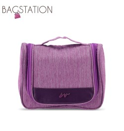 BAGSTATIONZ Lightweight Travel Toiletries Large Pouch-Purple