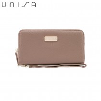 UNISA Textured Ladies Zip-Up Wallet-Khaki
