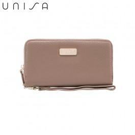 UNISA Textured Ladies Zip-Up Wallet-Khaki