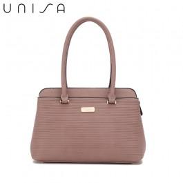 UNISA Debossed Convertible Shoulder Bag-Purple