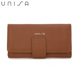 UNISA Textured Bi-Fold Purse-Brown