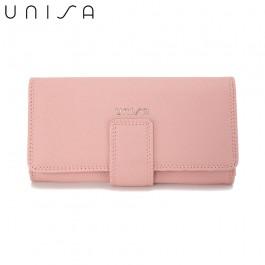 UNISA Textured Bi-Fold Purse-Pink