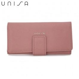 UNISA Textured Bi-Fold Purse-Purple