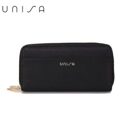UNISA Textured Double Zip-Up Purse-Black