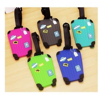 BAGSTATIONZ Assorted designs Soft PVC Luggage Tag (Green)