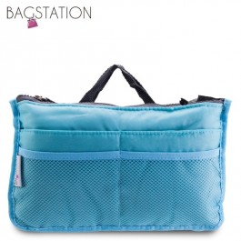 Bagstationz Premium Lightweight & Water-Resistant Multi-Compartment BAG IN BAG Organizer (Blue)