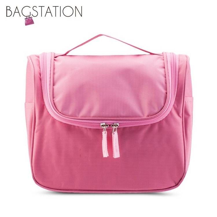 786e51b583ec BAGSTATIONZ Lightweight Water Resistant Travel Organizer And Toiletries  Pouch (Pink)