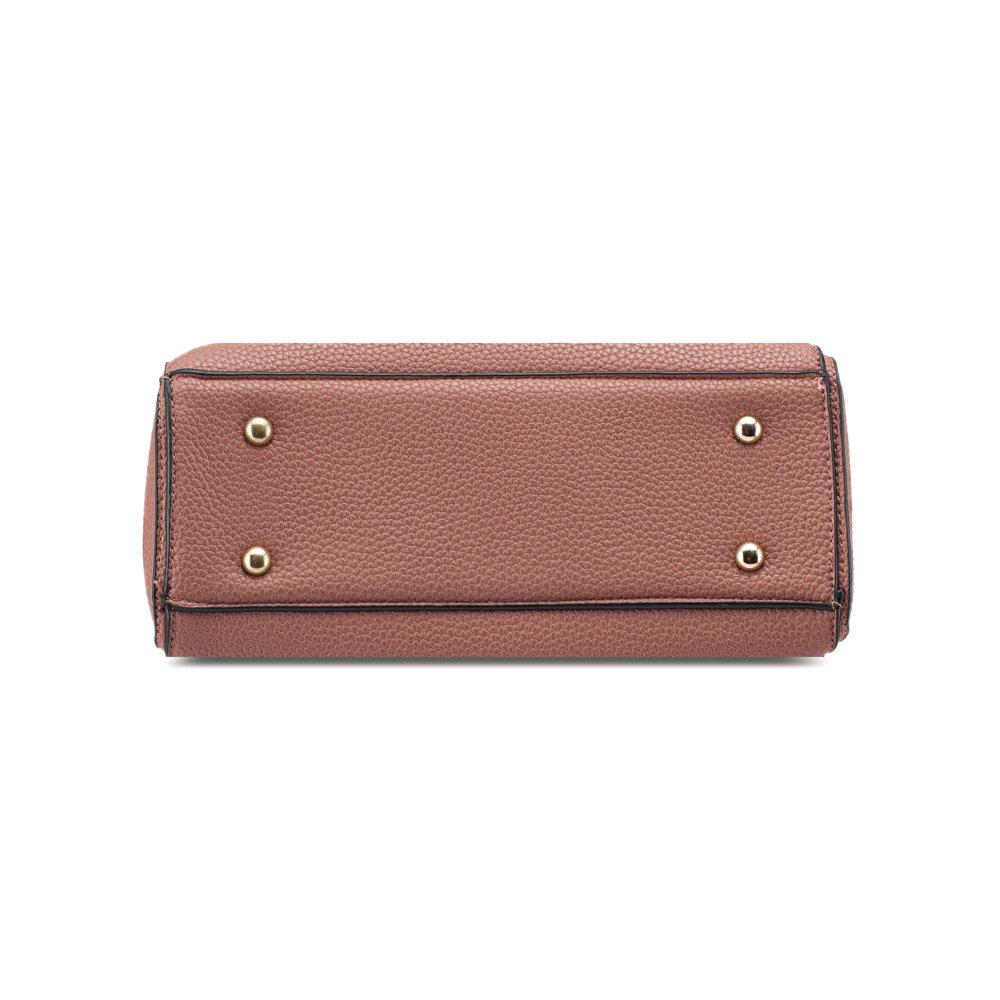 9e54f5d31a8 UNISA Pebbled Texture Convertible Top Handle Bag-Pink