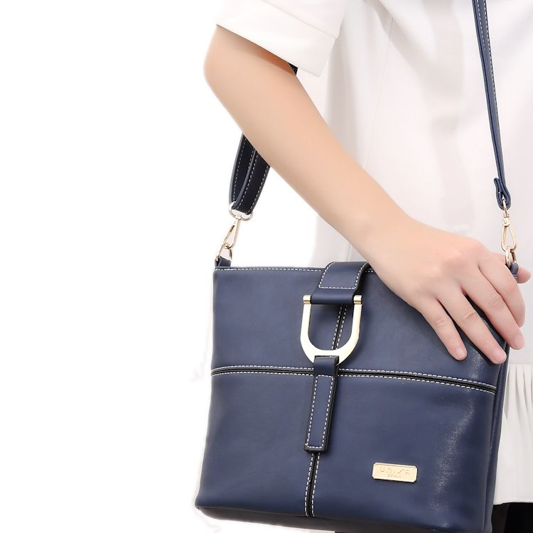0a79ad2a8e UNISA Faux Leather Sling Bag (Navy Blue)